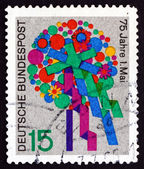 Postage stamp Germany 1965 Bouquet of Flowers — Stock Photo