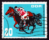 Postage stamp GDR 1967 Horse Race Finish — Stock Photo