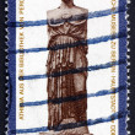 Postage stamp GDR 1983 Statue of Athena, Greek Goddess — Stock Photo