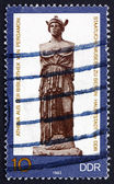 Postage stamp GDR 1983 Statue of Athena, Greek Goddess — Stock Photo