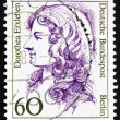 Stockfoto: Postage stamp Germany 1988 DorotheErxleben, physician