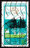 Postage stamp GDR 1974 Freighter and Paddle Steamer — Stock Photo