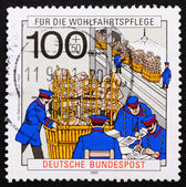 Postage stamp Germany 1990 Post Office, 1900 — Stock Photo