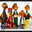 Postage stamp Greece 2006 Dolls made by Skonouchi Karopoulos — Stock Photo