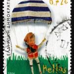 Postage stamp Greece 2006 Parachutist, c. 1950, Toy — Stock Photo