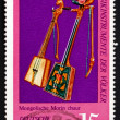 Postage stamp GDR 1971 Two Morin Khuur, Mongolia — Stock Photo