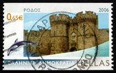 Palace Grèce 2006 timbre-poste du grand maître, rhodes — Photo
