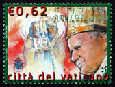 Postage stamp Vatican 2003 Travels of Pope John Paul II — Stock Photo