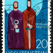 Postage stamp Liechtenstein 1967 Peter and Paul, Patron Saints — Stock Photo #37841419