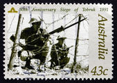 Postage stamp Australia 1991 Siege of Tobruk, WWII — Stock Photo