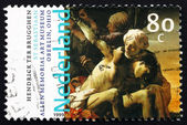 Postage stamp Netherlands 1999 St. Sebastian, by Hendrick Ter Br — Stock Photo