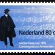 Stock Photo: Postage stamp Netherlands 1995 Gustav Mahler, Composer