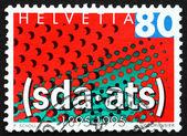 Postage stamp Switzerland 1995 Swiss News Agency — Stock Photo