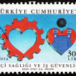 Stock Photo: Postage stamp Turkey 1988 Safe Work Conditions