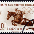 Postage stamp Turkey 1960 Steeplechase, Horse Racing — Stock Photo #37982815