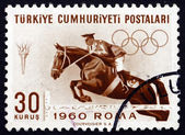 Postage stamp Turkey 1960 Steeplechase, Horse Racing — Stock Photo