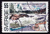 Postage stamp Sweden 1970 Ljusman River Rapids — Stock Photo
