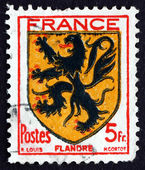 Postage stamp France 1944 Arms of Flanders — Stock Photo