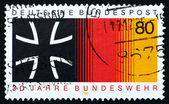 Postage stamp Germany 1985 Iron Cross and National Colors — Stock Photo