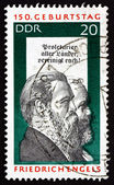Postage stamp GDR 1970 Friedrich Engels and Karl Marx — Stock Photo