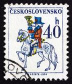 Postage stamp Czechoslovakia 1974 Post Rider — Stock Photo