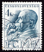 Postage stamp Czechoslovakia 1947 Tomas Garrigue Masaryk — Stock Photo