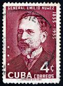 Postage stamp Cuba 1955 General Emilio Nunez — Stock Photo