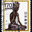 Stock Photo: Postage stamp Jap1980 Seated Maitreya, Horyuji Temple