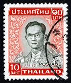 Francobollo thailandia 1972 re bhumibol adulyadej — Foto Stock