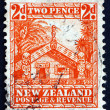 Postage stamp New Zealand 1935 Maori Council House — Stock Photo