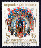 Postage stamp Austria 1981 Holy Trinity, Byzantine Miniature — Stock Photo