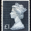 Postage stamp GB 1969 Her Majesty Queen Elizabeth II — Stock Photo #38495397