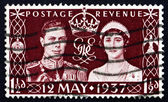 Postage stamp GB 1937 King George VI and Queen Elizabeth — Stock Photo