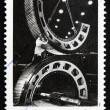 Postage stamp Australia 1991 Gears, by Wolfgang Sievers — Stock Photo