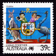 Stock Photo: Postage stamp Australia 1988 Tourism, Living Together