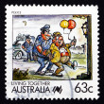 Postage stamp Australia 1988 Police, Living Together — Stock Photo