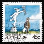 Postage stamp Australia 1988 Health, Living Together — Stock Photo