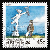 Postage stamp Australia 1988 Health, Living Together — Stock Photo