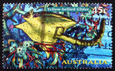 Postage stamp Australia 1997 Yellow-bellied Glider, Possum — Stock Photo