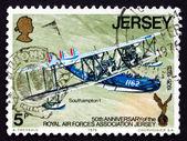 Postage stamp Jersey 1975 Southampton 1, Plane — Stockfoto