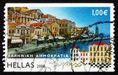Postage stamp Greece 2008 Symi, Island View — Stock Photo
