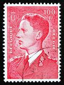 Postage stamp Belgium 1958 King Baudouin, Belgian king — Stock Photo