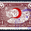 Postage stamp Turkey 1934 Map of Turkey — Stock Photo