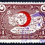 Postage stamp Turkey 1934 Map of Turkey — Stock Photo