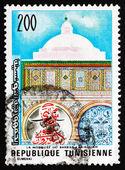 切手チュニジア 1976年床屋モスク — ストック写真
