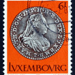 Stock Photo: Postage stamp Luxembourg 1981 Silver Coin
