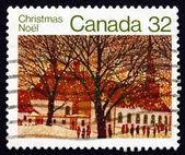 Postage stamp Canada 1983 Urban Church, Christmas — Stock Photo