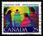 Postage stamp Canada 1977 Christ Child, Christmas — Stock Photo