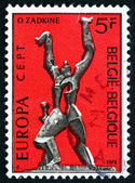 Postage stamp Belgium 1974 Destroyed City, Sculpture — Stock Photo