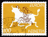 Postage stamp Switzerland 1995 Abducting Europa, Greek Myth — Stock Photo
